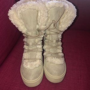 Fuzzy Boots.